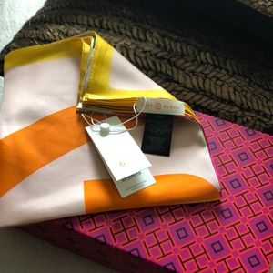 Tory Burch color block scarf